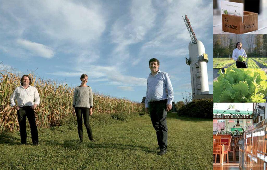 Anja, Hannes in Josef Jernej, kmetija pri Mohoriču