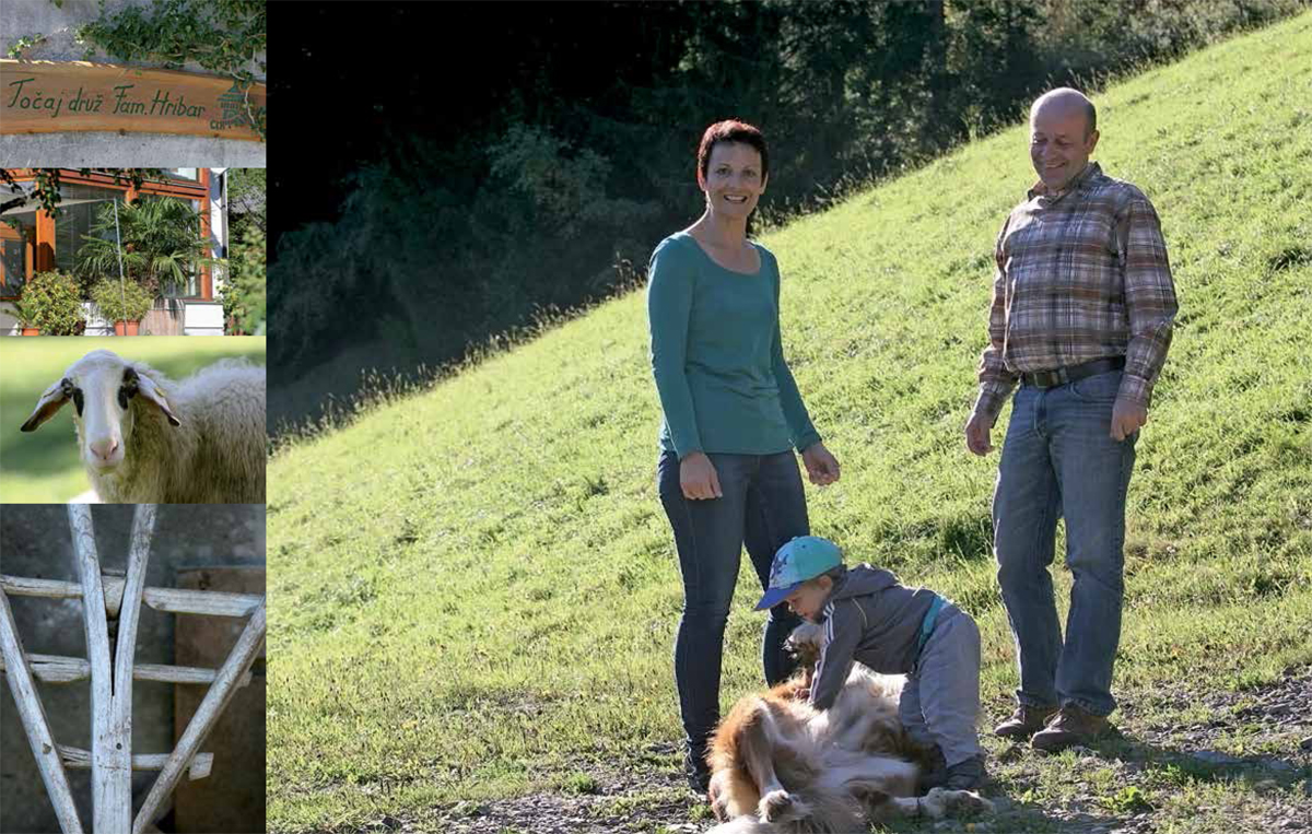 Sonja, Gabriel in Matija Hribar, kmetija pri Točaju