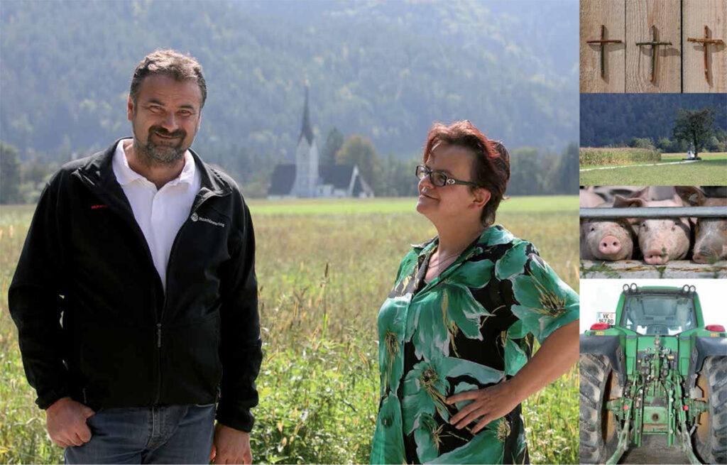 Marko in Kristina Trampusch kmetija pri Božiču Dob