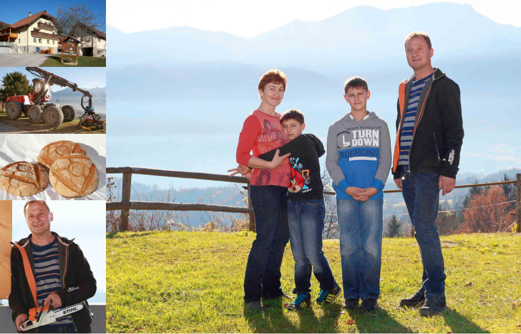 Družina Ogris, kmetija pri Odriju