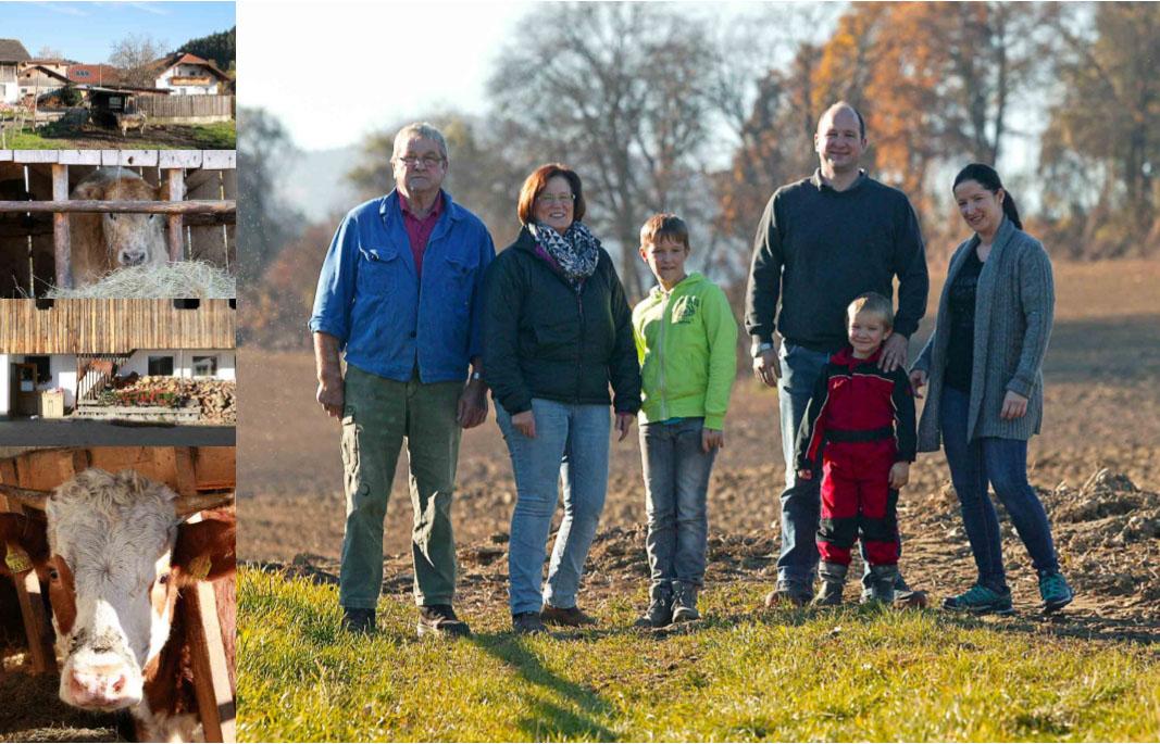 Družina Rutter, kmetija pri Donišu