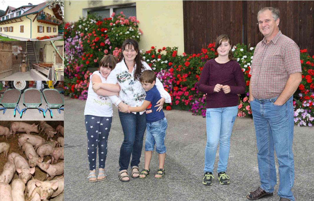 Družina Vauti, kmetija pri Kajžniku