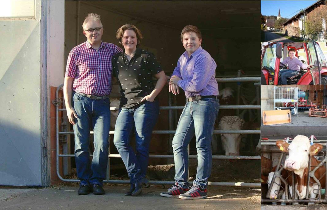 Tomi, Eva in Florian Ogris, kmetija pri Pibru