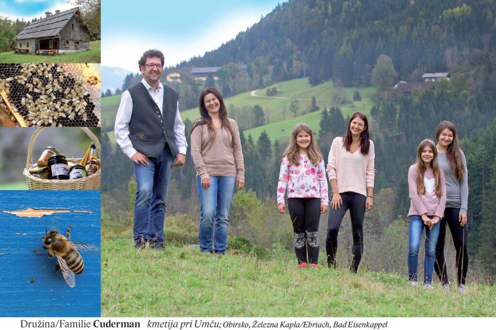 Družina/Familie Cuderman kmetija pri Umču; Obirsko, Železna Kapla/Ebriach, Bad Eisenkappel