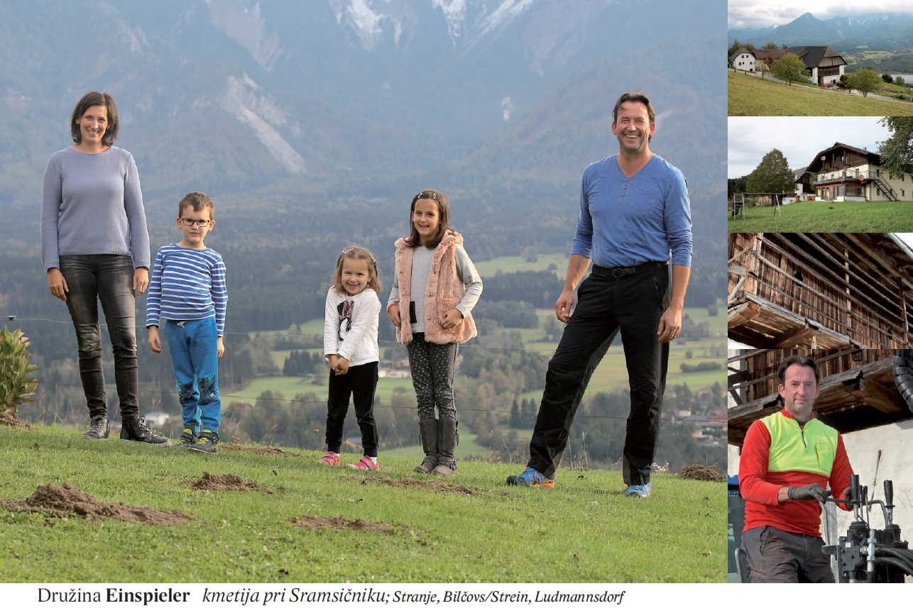 Družina Einspieler kmetija pri Sramsičniku; Stranje, Bilčovs/Strein, Ludmannsdorf