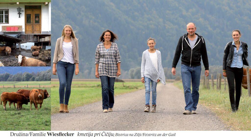 Družina/Familie Wiesflecker kmetija pri Čičiju; Bistrica na Zilji/Feistritz an der Gail