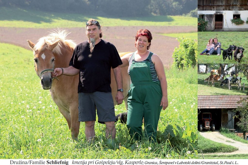 Družina/Familie Schliefnig kmetija pri Gošpeleju/vlg. Kasperle; Granica, Šentpavel v Labotski dolini/Granitztal, St.Paul i. L.