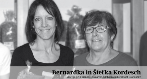 Bernardka in Štefka Kordesch, Kmetija pri Kukmanu, Mala vas, Globasnica/Kleindorf, Globasnitz